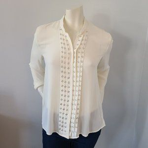 Romeo & Juliet Couture - Grommet Panel Blouse
